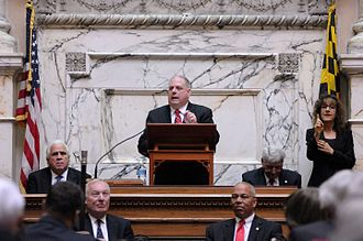 Larry Hogan - Hogan giving the State of the State Address in 2016