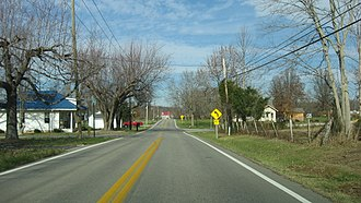 Franklin Township, Clermont County, Ohio - State Route 133 at Mount Olive, north of Felicity