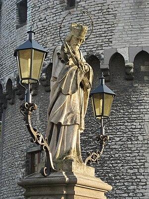 Broeltowers - Image: Statue of John of Nepomuk in Kortrijk