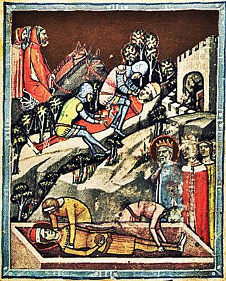 Andrew I of Hungary - The blinding of Vazul after the death of Emeric, the only son of King Stephen I of Hungary
