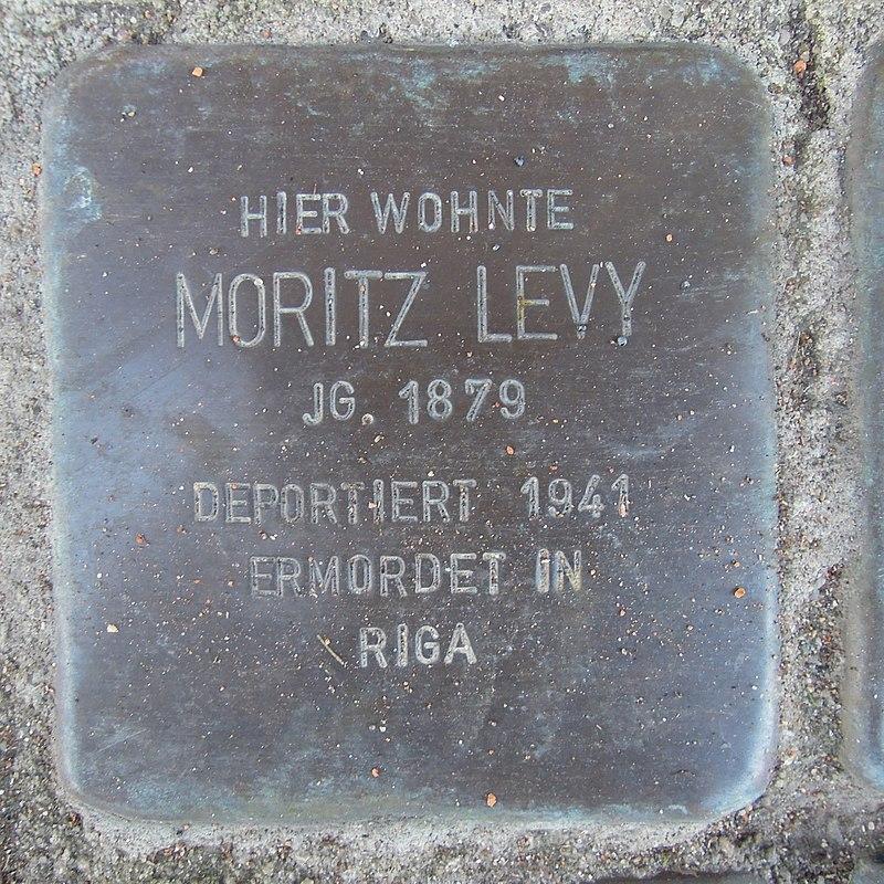 Stolperstein für Moritz Levy