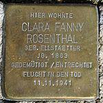 Stolperstein Clara Fanny Rosenthal Jena 2014.jpg