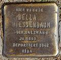 Stolperstein Dieffenbachstr 45 (Kreuzb) Bella Niessenbaum.jpg