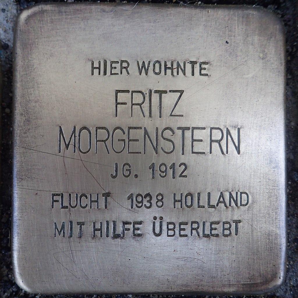 Stolperstein für Fritz Morgenstern