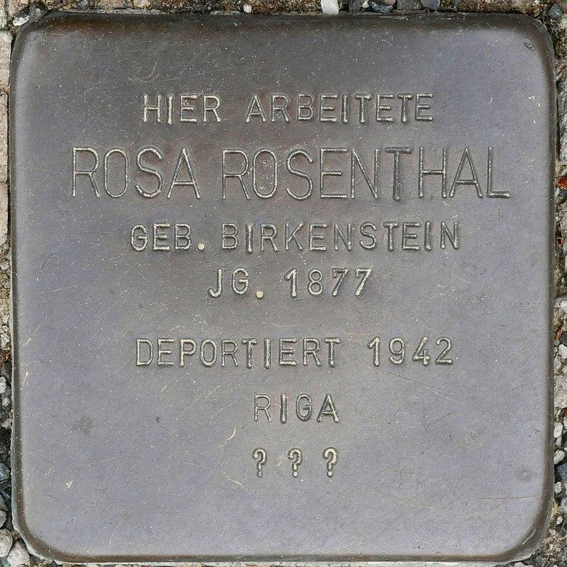 Stolperstein für Rosa Rosenthal