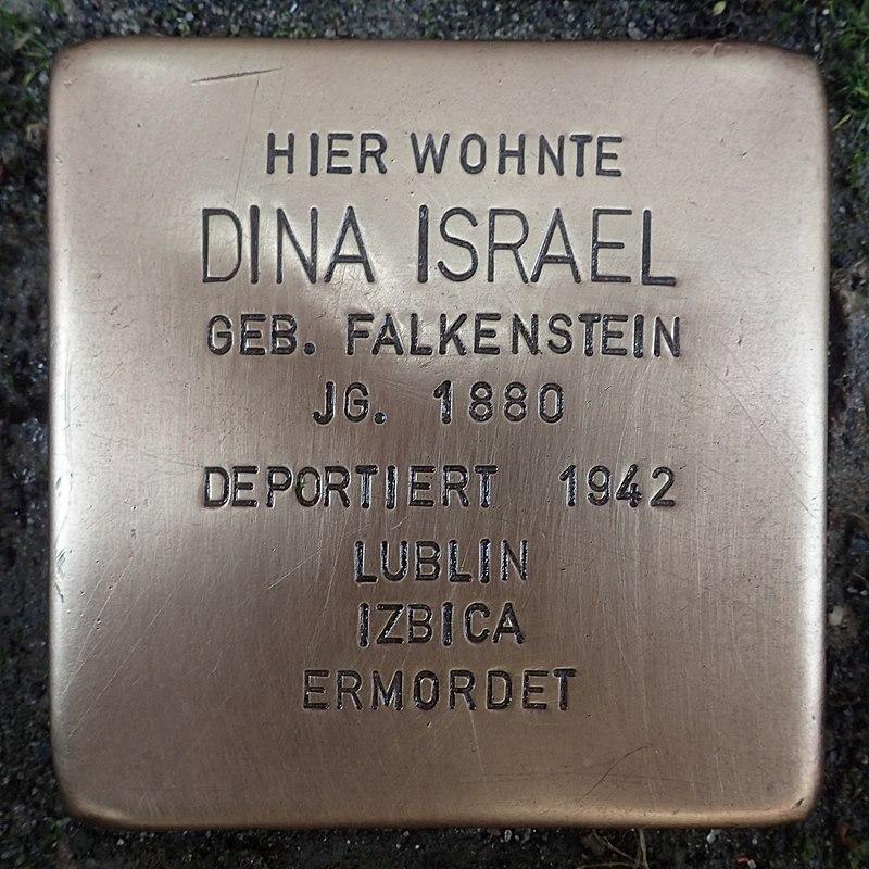 Stolperstein für Dina Israel geb. Falkenstein