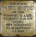 Stolperstein Salzburg, Dr. Otto Kemptner (Getreidegasse 11).jpg
