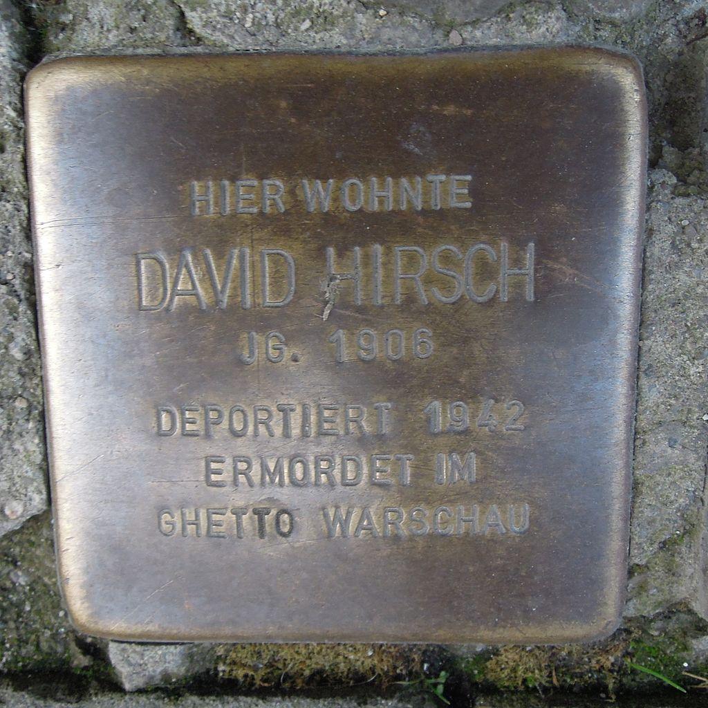 Stolperstein Salzwedel Burgstraße 59 David Hirsch