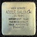 Stumbling block for Adolf Salomon (Schaurtestrasse 1)