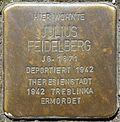 Stumbling block for Julius Feidelberg (Humboldtstr. 42)