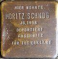 Stumbling block for Moritz Schnog (Krummer Büchel 18)