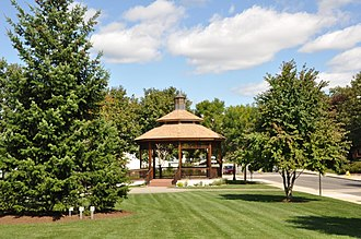 Central Square Historic District (Stoneham, Massachusetts) - Image: Stoneham MA Bandstand