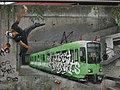 Straßenbahn Graffiti Trompe-l'œil.JPG
