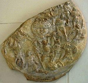 Athena Parthenos - Plaster cast of the British Museum's 3rd-century CE Roman marble Strangford Shield (Pushkin Museum)