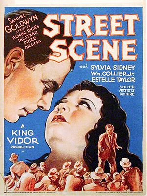 Street Scene (play) - Poster for the 1931 film Street Scene
