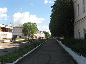 Yelnya, Yelninsky District, Smolensk Oblast - A street in Yelnya