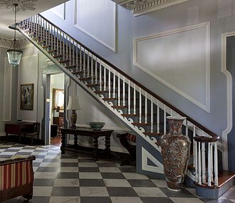 Sturdivant Hall - First floor hall and cantilevered staircase