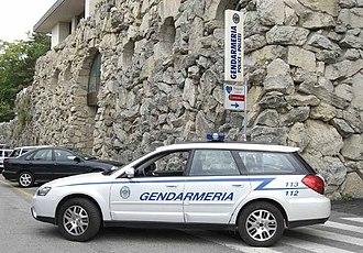 Military of San Marino - A Subaru of the Gendarmerie