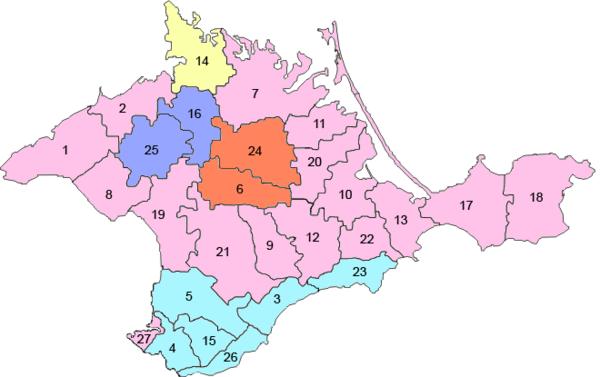 Административное деление КАССР