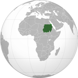 Sudan (orthographic projection) highlighted.svg