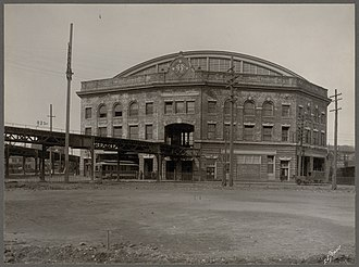 Sullivan Square station - Exterior of the elevated station around 1910
