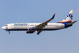 SunExpress Germany (D-ASXA) Boeing 737-8Z9(WL) coming in from Las Palmas (GCLP) @ Frankfurt - Rhein-Main International (EDDF).jpg