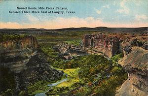 Buffalo jump - Mile Canyon bison jump site