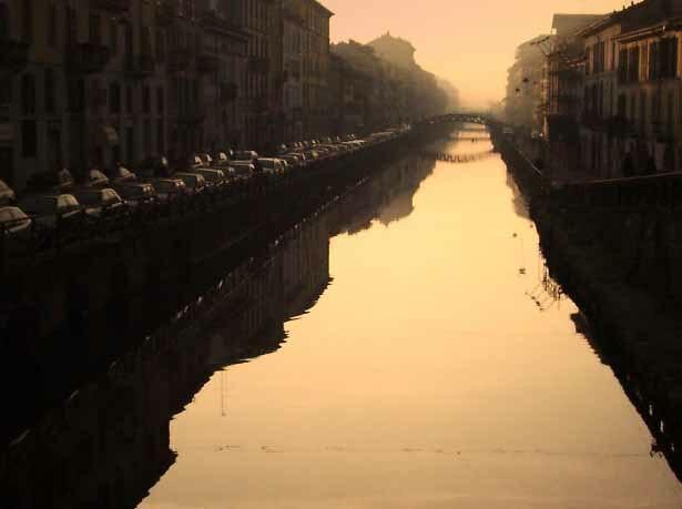 Sunset on Naviglio Grande (Milan)