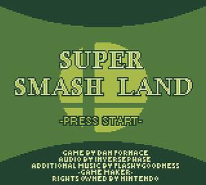 Super Smash Land - Title Screen