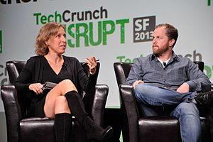 Smart casual - Technology company leaders Susan Wojcicki and David Prager in what can be considered as 'smart casuals', at a Tech-conference in USA, 2013