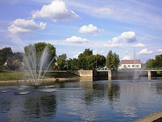 Šventoji (upė) Anykščiuose.Foto:Matasg