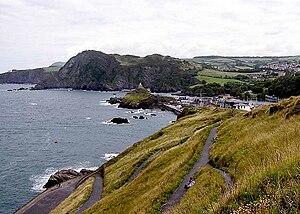 England Coast Path - Part of the South West Coast Path near Ilfracombe