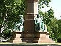 Széchenyi monument by József Engel, Ceres and Minerva, 2009 BudapestDSCN3525.jpg