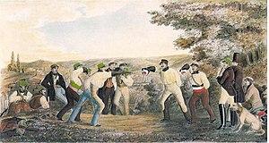 Academic fencing - Mensur fencing with Korbschlägern in Tübingen in 1831
