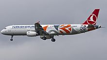 TC-JRO A321 Turkish Airlines (EuroLeague livery) VKO UUWW (34405470522).jpg