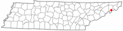 Location of Banner Hill, Tennessee