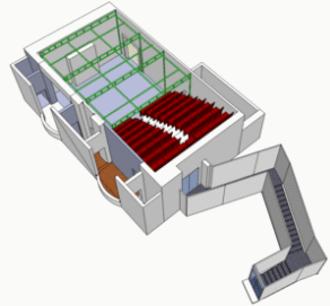 Tabard Theatre - 3-D model of the theatre's interior