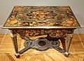 Table, Andre-Charles Boulle, Paris, c. 1670-1680, marquetry of various woods, pewter, brass, copper, horn, tortoiseshell - California Palace of the Legion of Honor - DSC07731.JPG