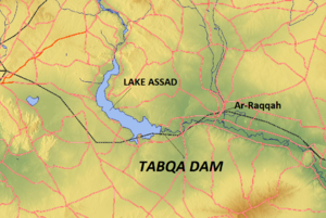 Lake Assad - Map of the wider Lake Assad region