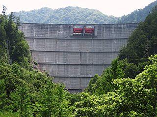 Takane Dam dam in Takayama, Gifu Prefecture, Japan.