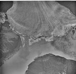 Taku Glacier, tidewater glacier terminus and a braided stream, July 12, 1977 (GLACIERS 6228).jpg