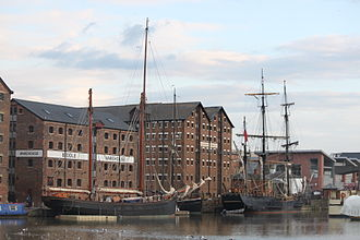 Alice Through the Looking Glass (2016 film) - Tall ships in Gloucester Docks for the filming of Alice Through the Looking Glass. August 2014