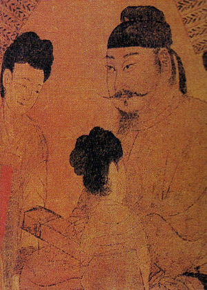 Wu Zetian - A painting portraying Emperor Taizong of Tang by painter Yan Liben (c. 600 – 673).