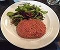Tartare de boeuf préparé, restaurant Steakhouse à Lyon (mars 2019).jpg