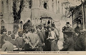 31 March Incident - Taksim Military Barracks, where the counter-coup commenced.
