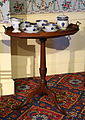 Tea set, China for export, c. 1795, porcelain, on stand, New England, 1780-1790, mahogany - Concord Museum - Concord, MA - DSC05787.JPG