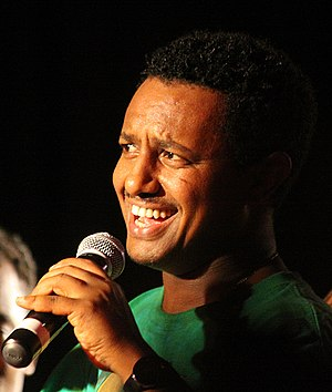 Music of Ethiopia - Teddy Afro singing at a concert