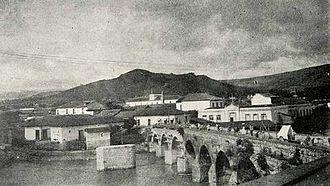 Choluteca River - 1910 image of a bridge on the River Choluteca in Tegucigalpa