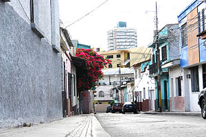Street in Tegucigalpa city centre, Honduras