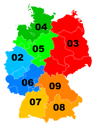 Telephone numbers in Germany - Image: Telefonvorwahlbereic he Deutschland